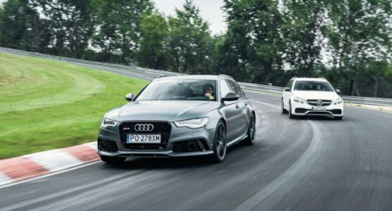 Mercedes Benz E63 AMG vs Audi RS6 Avant at the Nurburgring